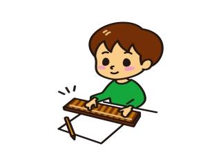 そろばんを弾く子供のイラスト
